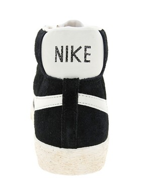 Image 2 ofNike Blazer Mid Black Suede Trainers