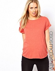 ASOS Maternity Exclusive Boyfriend T-Shirt in Marl