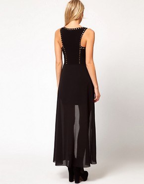 Image 2 ofLove Stud Chiffon Maxi Dress