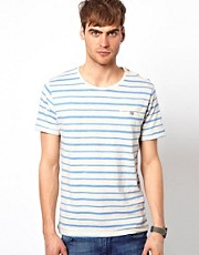 Selected T-Shirt With Stripe Pocket