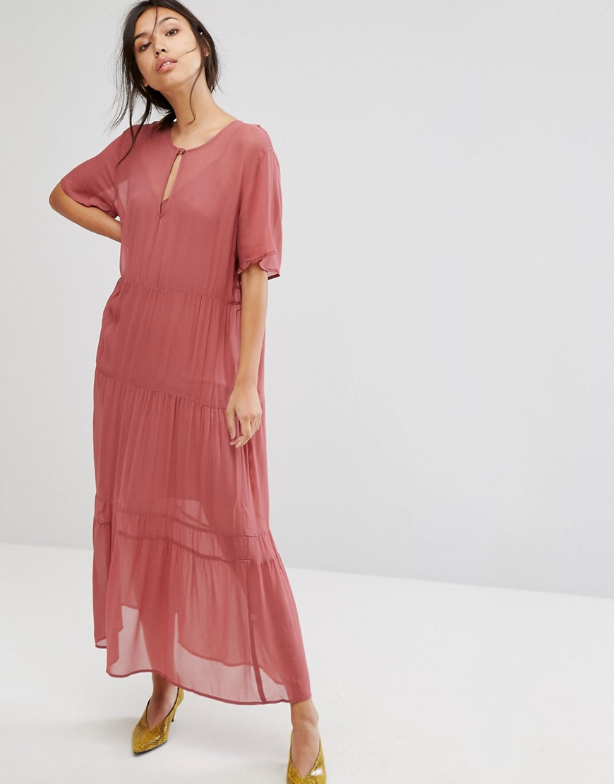 Photo of Gestuz Ayo Sheer Tiered Maxi Dress - shop Gestuz dresses online
