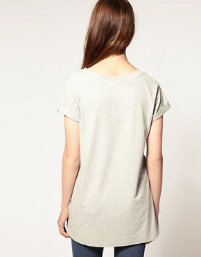 Image 2 ofASOS T-Shirt with Slouchy Boyfriend Fit