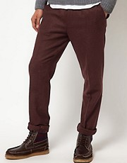 ASOS Skinny Fit Suit Trousers in Berry