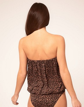 Image 2 ofASOS Leopard Pouch Over Swimsuit