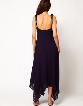 Image 2 ofASOS Maternity Maxi Dress With Lace Trim