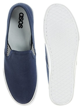 Image 3 of ASOS Slip On Plimsolls