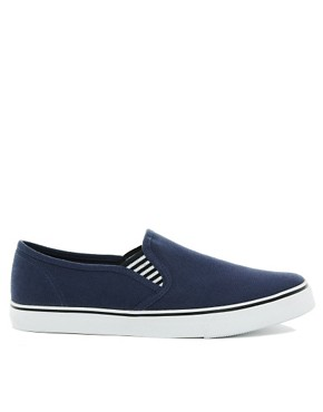 Image 4 of ASOS Slip On Plimsolls