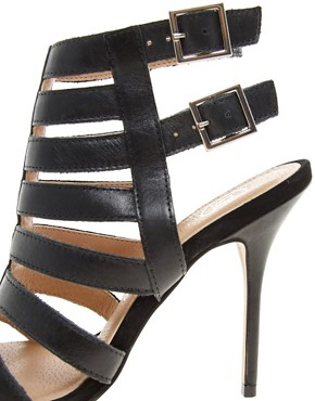 Image 2 ofRiver Island Olivia Caged Heeled Sandals