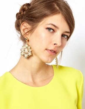 Image 2 of Limited Edition Pearl Stone Doorknocker earring