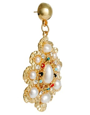 Image 3 of Limited Edition Pearl Stone Doorknocker earring