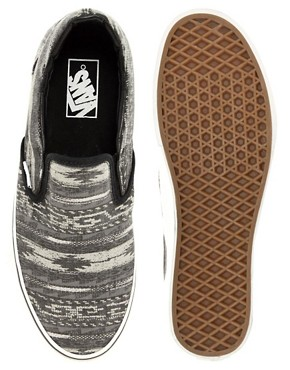 Image 3 ofVans Classic Slip-On Navajo Plimsolls