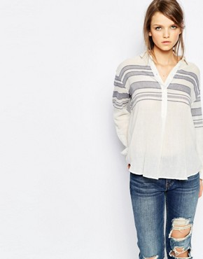 Samsoe & Samsoe Mia Linen Mix Striped Shirt