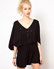 Religion Playsuit With Sequins