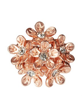 Image 2 ofOasis Rose Gold Floral Stretch Ring