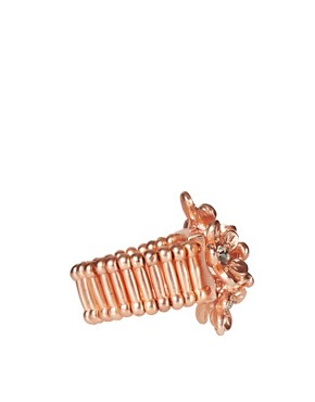 Image 4 ofOasis Rose Gold Floral Stretch Ring