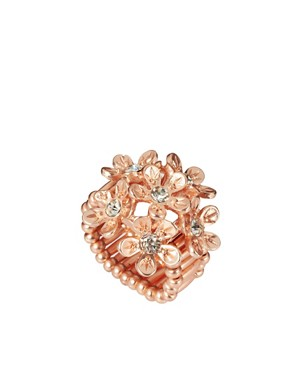 Image 1 ofOasis Rose Gold Floral Stretch Ring