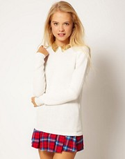 ASOS Sequin Collar Boyfriend Jumper