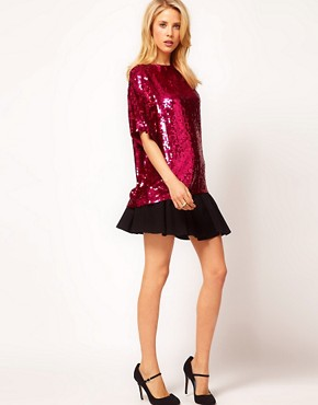 Image 4 ofASOS Sequin Tunic With Heart Cutout Back