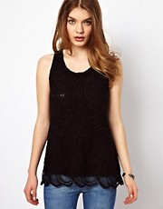 By Zoe Jersey Lace Cami with Zip Pocket