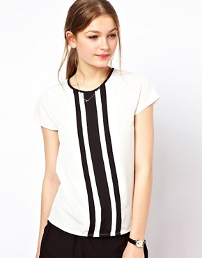 Image 1 ofA Wear Contrast Pleat Top