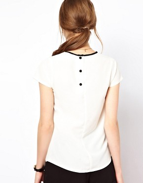 Image 2 ofA Wear Contrast Pleat Top