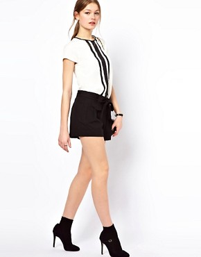 Image 4 ofA Wear Contrast Pleat Top