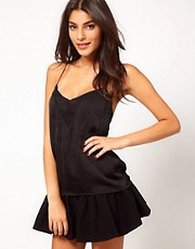 ASOS Cami With Skinny Straps And Sheer Panels