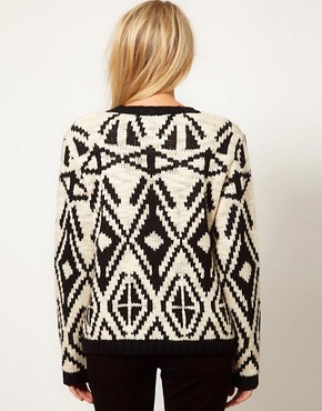 Image 2 of Oasis Intarsia Neck Sweater