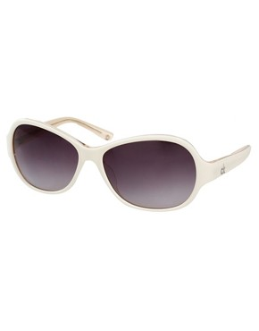 Image 1 ofCk by Calvin Klein Sunglasses With Metal Trim
