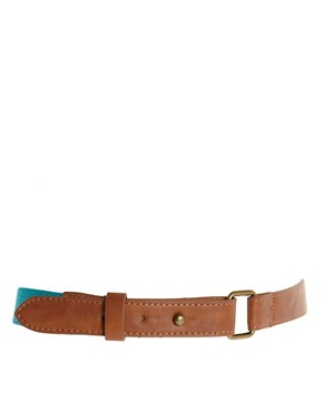 Image 1 of Pieces Colourblock Elastic Waist Belt