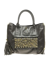 Sara Berman Studded Leather Melody Tote Bag