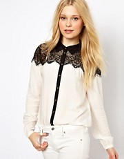 Vila Blouse With Lace