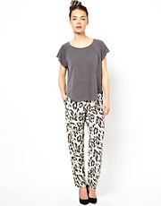 Selected Leo Animal Print Trousers