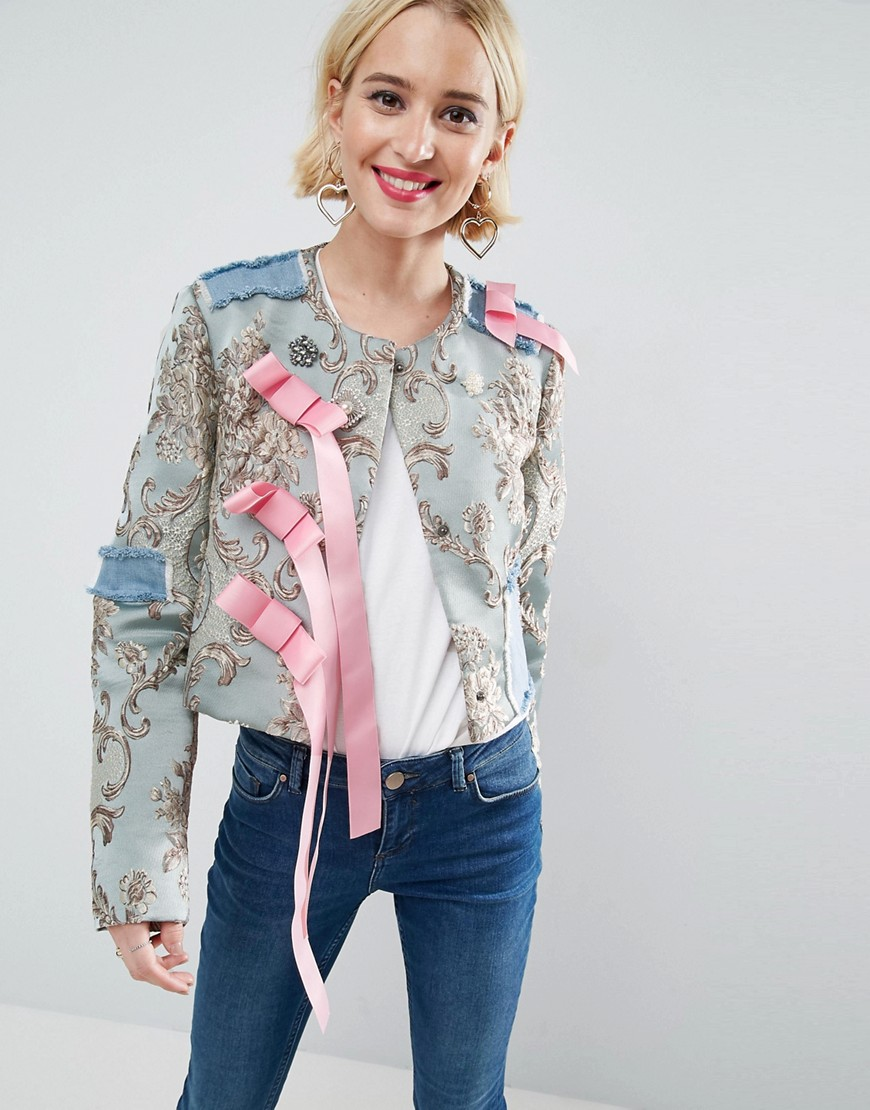 ASOS Jacket in Floral Jacquard - Multi