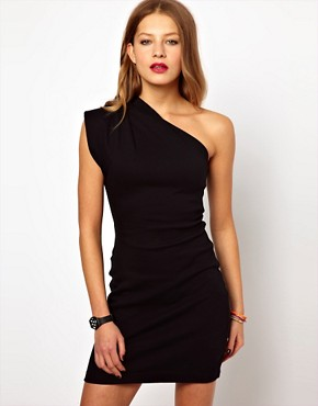 Image 1 ofAmerican Apparel One Shoulder Dress