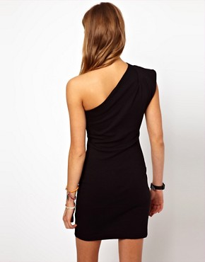 Image 2 ofAmerican Apparel One Shoulder Dress