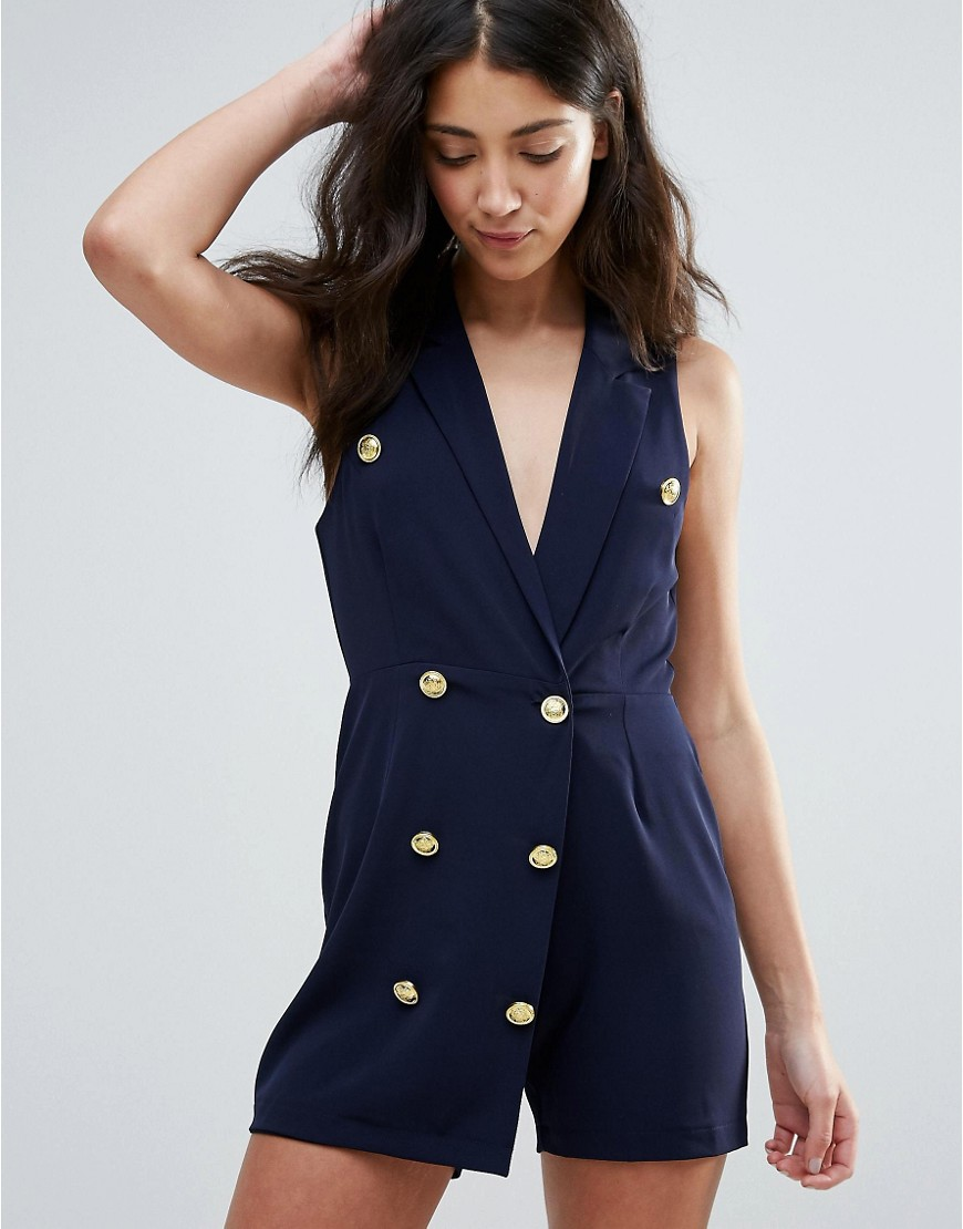 Unique 21 Double Breasted Playsuit
