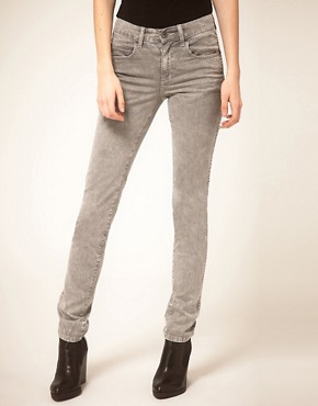 Image 1 ofDr Denim Snap Skinny Jeans