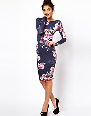 ASOS Floral Watercolour Print Bodycon