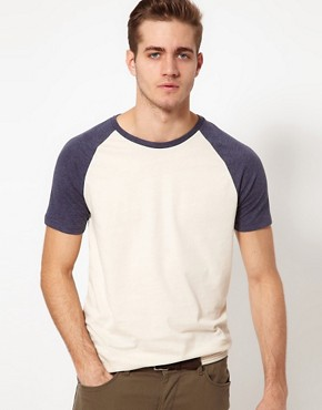 Image 1 ofASOS T-Shirt With Contrast Raglan Sleeves