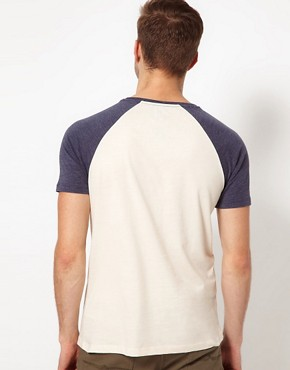 Image 2 ofASOS T-Shirt With Contrast Raglan Sleeves