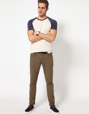 Image 4 ofASOS T-Shirt With Contrast Raglan Sleeves