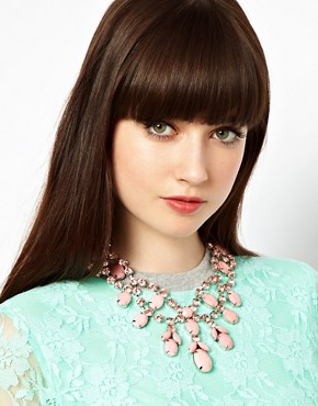 Image 3 ofASOS Premium Jewelled Bib Necklace
