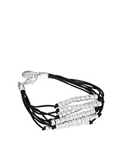 Jamie Jewellery Cord Bracelet with Silver Nugget Beads