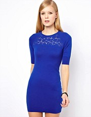 Karen Millen Knitted Dress with Lace Insert