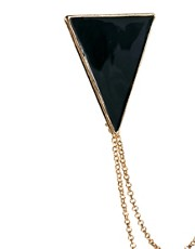 ASOS Triangle Collar Tips with Chain
