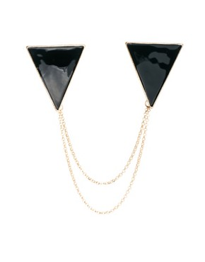 Image 3 ofASOS Triangle Collar Tips with Chain