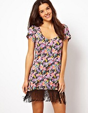 Freya Firefly Print Fringed Kaftan