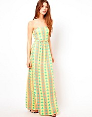 Ruby Rocks Heart Print Maxi Dress