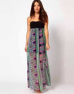 Image 4 ofRiver Island Rhoda Macrame Barbados Print Maxi Dress